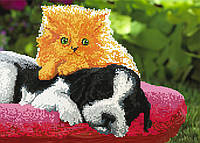 """Схема для вышивки бисером """"Щенок и котенок"""", А3"""