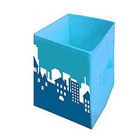 Ящик для хранения игрушек Город, 30*30*45 см