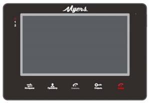 Цветной видеодомофон Myers M-72SD Black