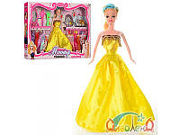 Кукла с нарядом 28см., 12 платьев, сумочка, 2 расчески, зеркало в кор. 55х33,5х5,5см. YX032A (30)