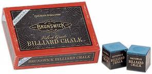 Мел для бильярда  BRUNSWICK ( 144шт, синий)