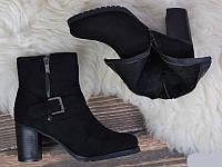 Замшевые ботинки на каблуке весна ,осень 37-40