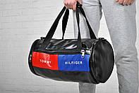 Сумка спортивная, модная, классическая, эко кожа/ new / Black / Tommy Hilfiger  /бочка