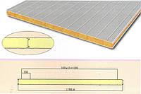 Сэндвич панель стеновая тип V базальт 100 мм, фото 1
