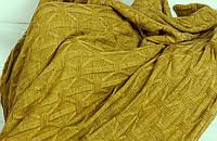 Мягкий вязаный плед в подарочной упаковке украинского производства. Шерсть с мохером.