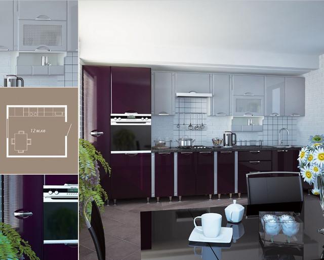 Кухня София Люкс (цвет фиолет, схема)