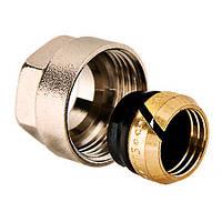 Компрессионный фитинг для хромированных труб 15х3/4 (евроконус)