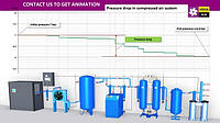 Падение давления и контроль давления в системе сжатого воздуха
