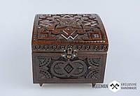 Эксклюзивная шкатулка ручной работы из натурального дерева, шкатулка для украшений , фото 1