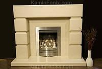 Камин комбинированый мрамор и известняк в стиле хай тек