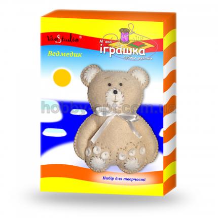 """Набор для изготовления мягкой игрушки """"Медвеженок светло-коричневый"""", фото 2"""