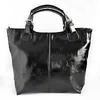 Глянцевая сумка шоппер женская модельная