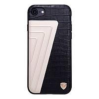 Чехол накладка кожаный Nillkin Hybrid для Apple iPhone 7 4.7 Crocodile черный