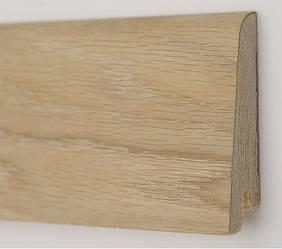 Плинтус деревянный шпонированный Дуб шлифованный (под покраску)