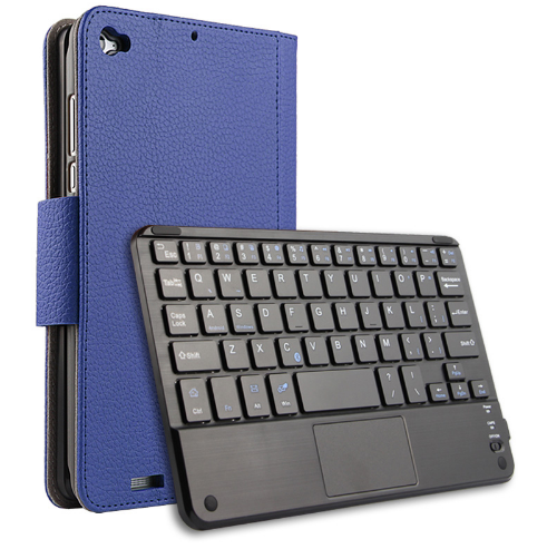 Чехол клавиатура Bluetooth магнитная для Xiaomi Mi Pad 2 7.9 синий