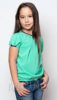 Блузка для девочки 1639/122/бірюзовий в наличии 122 р., также есть: 122,128,134,140,146, Mevis_Дітекс