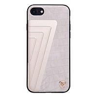 Чехол накладка кожаный Nillkin Hybrid для Apple iPhone 7 4.7 Crocodile белый