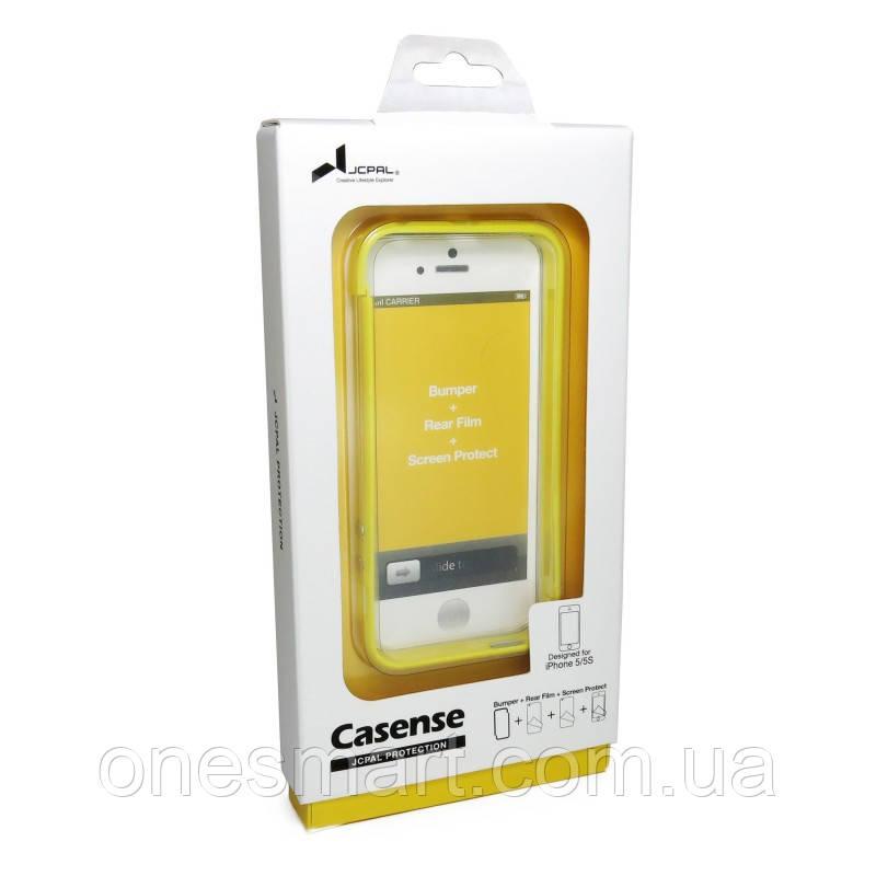 Бампер на Apple iPhone 5, 5s, SE, JCPAL серія Colorful 3 in 1, колір жовтий Yellow