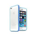 Бампер на Apple iPhone 5, 5s, SE, JCPAL серия Anti-shock Bumper 3 in 1, цвет Blue, фото 4