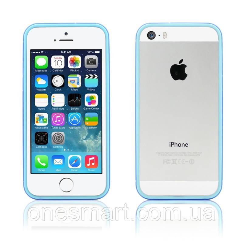 Бампер на Apple iPhone 5, 5s, SE, JCPAL серия Anti-shock Bumper 3 in 1, цвет Blue