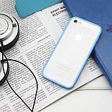 Бампер на Apple iPhone 5, 5s, SE, JCPAL серия Anti-shock Bumper 3 in 1, цвет Blue, фото 3
