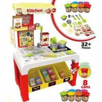 Набор игровой Кухня с тестом для лепки и посудой 8725