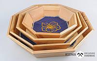 Набор посуды из натурального дерева, деревянная посуда для подачи хлеба, выпечки, фруктов, конфет.
