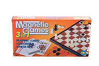 Настольная игра магнитные Шашки-шахматы-нарды 9888 3 в1 в коробке 24,5*12,5*3,5 см