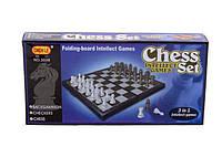 Настольная игра Шашки-шахмыты-нарды 3038 3 в1 в коробке 24,5*24,5*1,7 см