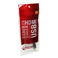 Extradigital OTG USB 2.0 AF / micro USB B, 0.1m, 28 AWG, Hi-Speed