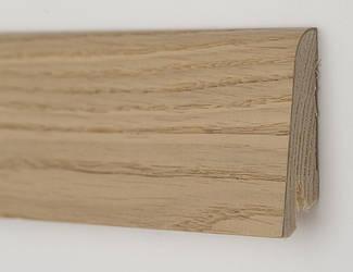 Плинтус деревянный шпонированный Дуб карамельный