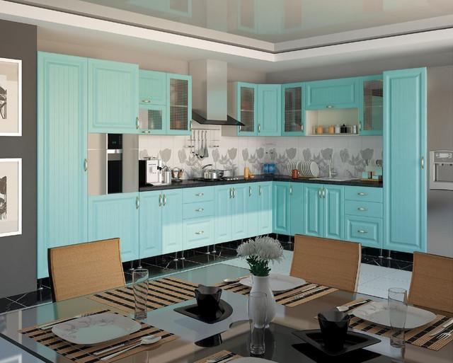 Кухня София Романтика (цвет морская волна)