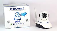 Поворотная Wi-Fi  IP-камера день/ ночь,  датчик движения, сигнализация