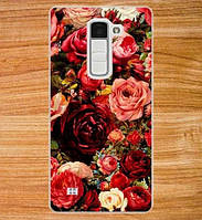 Силиконовый чехол бампер для LG K7 x210 с картинкой Розы