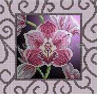 Схема для вышивки бисером Орхидея винтаж