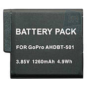 Аккумулятор AHDBT-501 (AABAT-001) для GoPro Hero 5, 6, 7 - 1260 mAh.
