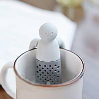 Чайное ситечко Человечек. Заварник силиконовый Мистер Чай