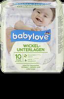 Babylove Wickelunterlagen, 10 St - Детские одноразовые защитные пеленки, впитывающие, 10 шт.