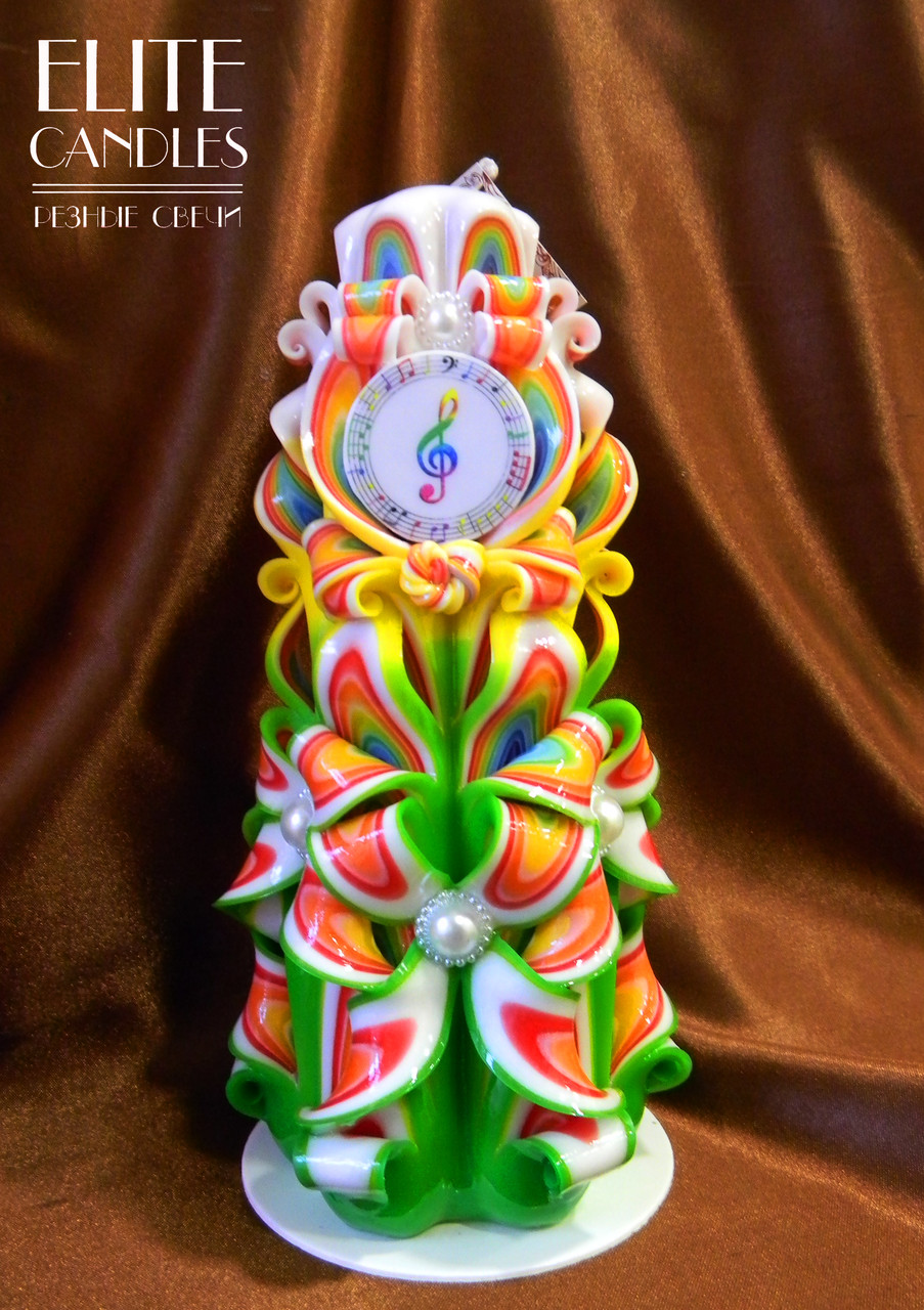 Подарочная свеча для учителей музыки и музыкантов, 22 см высотой