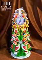 Свеча ручной работы на подарок, сувенир, 22 см высотой