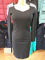 Платье черное с камнями