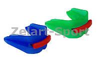 Капа боксерская двухсторонняя (двухчелюстная) ZEL BO-4501 (термопластик, уп. пакет)