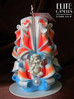 Романтический подарок - свеча с ангелочком, на 8 марта, день рождения, 14 февраля