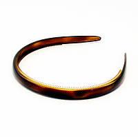 Обруч для волос коричневый силикон-Rose-ширина 1,0 см.* Ø 12,0 см., фото 1