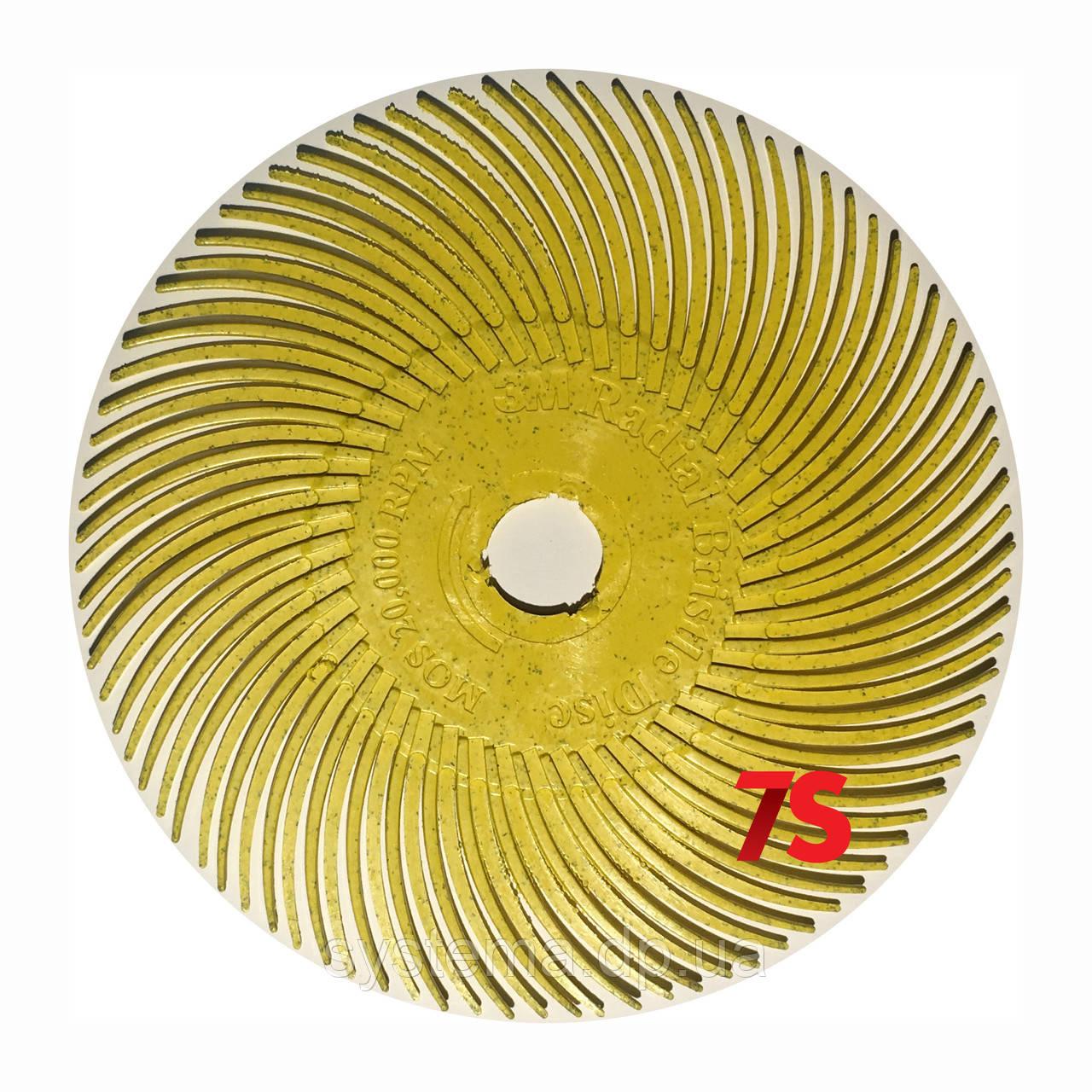 3M 30126 Scotch-Brite™ Bristle RB-ZB - Радиальная щетка 76х9 мм, P80, желтая