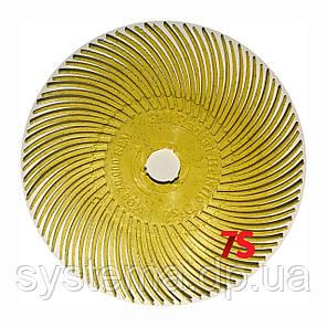 3M 30126 Scotch-Brite™ Bristle RB-ZB - Радиальная щетка 76х9 мм, P80, желтая, фото 2