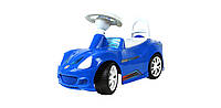 Машинка каталка Спорткар (160) синяя
