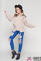 Короткое женское  песочное  пальто осень весна   PL-8727 42-48 размеры
