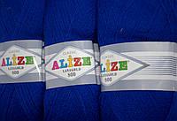 Пряжа нитки для вязания Lanagold Ланаголд 800 полушерсть синяя бирюза