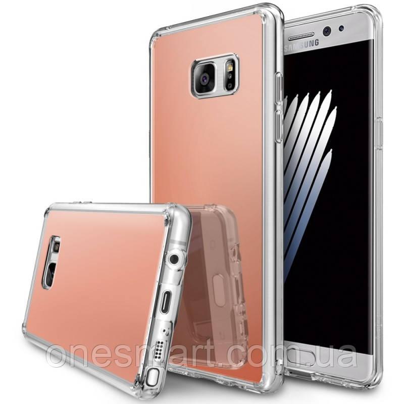 Чохол Ringke Fusion Mirror для Samsung Galaxy Note 7 N930F Rose Gold